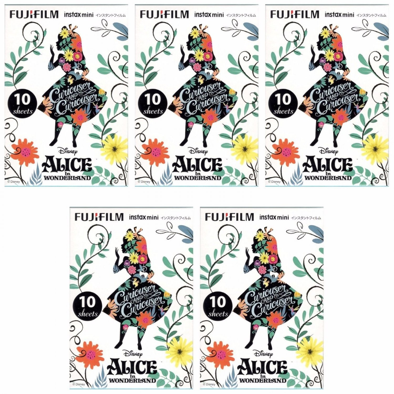 5 Packs Alice in Wonderland Curiouser FujiFilm Instax Mini 50 Photos Polaroid 7S 8 25 50S 70 90 X360