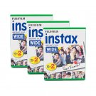 3 Packs 60 Instant Photos Fuji FujiFilm Instax Wide Film Polaroid Camera 200 210 X296