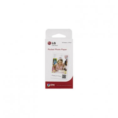 LG Zink Pocket Photo Paper Film 30 Sheets PS2203 For Printer PD221 PD233 PD239
