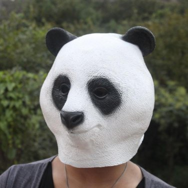 Creepy Panda Bear Head Face Animal Costume Halloween Party Props Carnival Mask