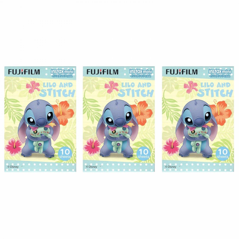 3 Packs 30 Photos Disney Lilo and Stitch FujiFilm Instax Mini Film Polaroid X380