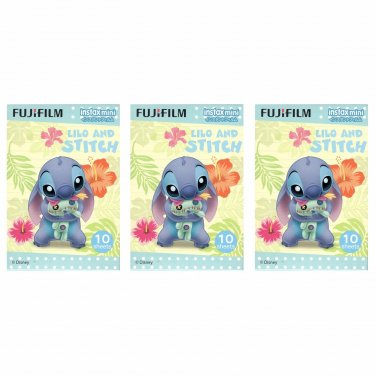 3 Packs 30 Photos Disney Lilo and Stitch FujiFilm Instax Mini Film Polaroid X380
