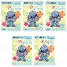 5 Packs 50 Photos Disney Lilo and Stitch FujiFilm Instax Mini Film Polaroid X380