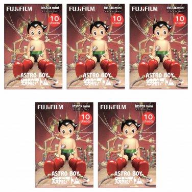 5 Packs 50 Photos Astro Boy FujiFilm Instax Mini Film Polaroid X382
