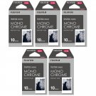 5 Packs 50 Photos Monochrome FujiFilm Fuji Instax Mini Film Polaroid 7S 8 SP-1 X390