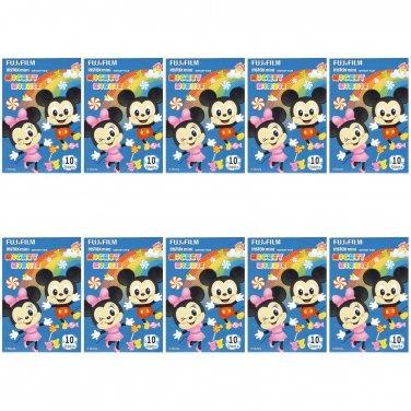 10 Packs 100 Photos Disney Mickey Minnie FujiFilm Fuji Instax Mini Film Polaroid X392