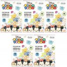 5 Packs 50 Photos Disney Tsum Tsum FujiFilm Fuji Instax Mini Film Polaroid SP-2 X393