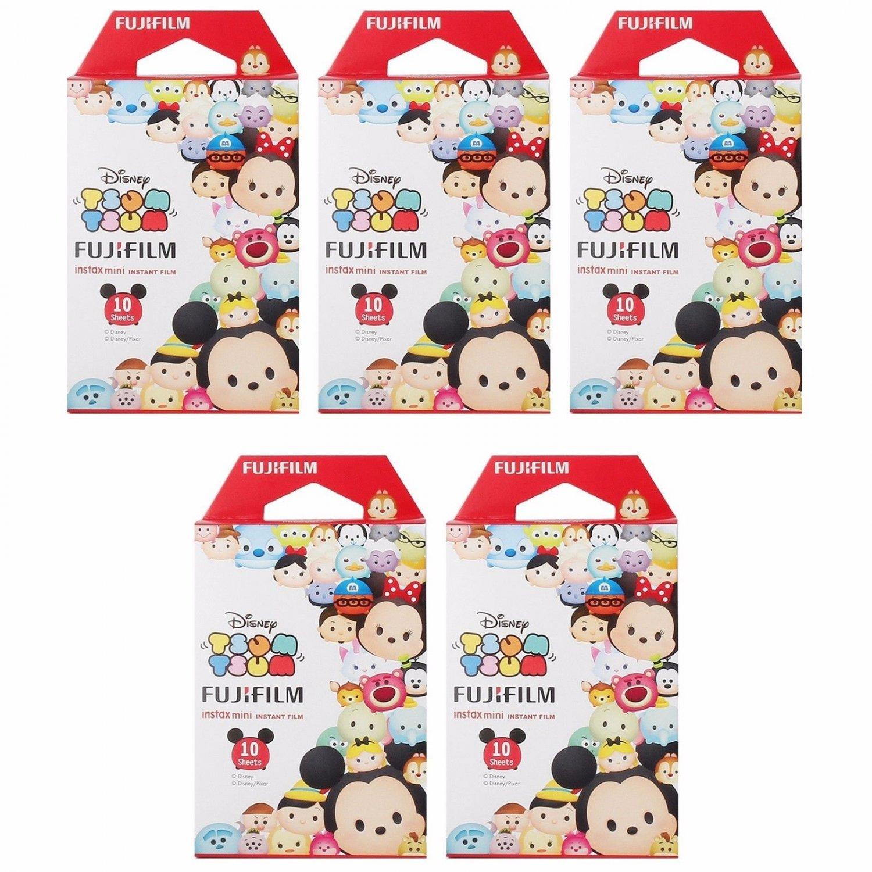 5 Packs 50 Photos Disney Tsum Tsum FujiFilm Fuji Instax Mini Film Polaroid 7S 8 X394