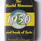 Rare 1950 THE WORLD ALMANAC published by The New York World-Telegram