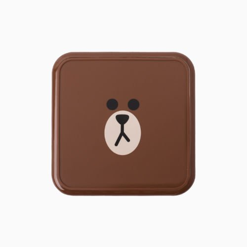 LINE FRIENDS Phone Wireless Charging Dock Bear Brown Charger 4 Micro Pin Samsung