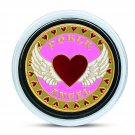 24K Yellow Gold Plated Casino Heart Lady Poker Angel Chip  + Case & FREE GIFT! (POKERCHIP-ANGEL)