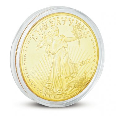 24K Yellow Gold Plated Collectible USA Money Liberty Coin &Case (LIBERTYCOIN)