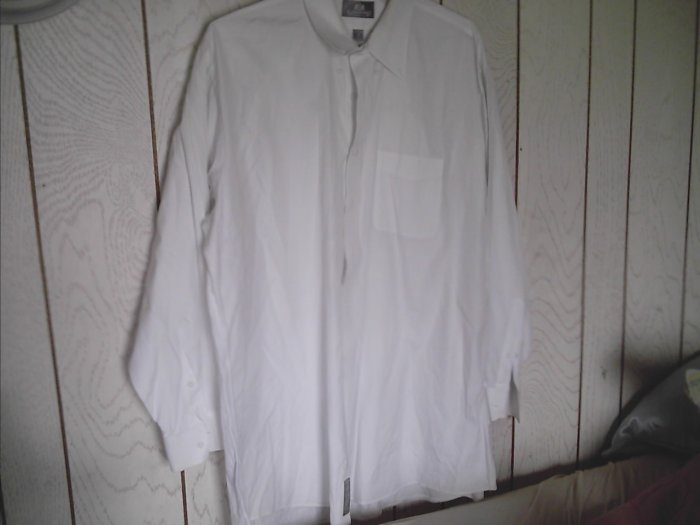Mens Stafford White Button Down SHIRT size 18/35