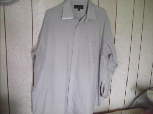 Mens Diamonte Gray Dress SHIRT size 18