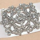 Victorian Dress Style Glass Crystal Rhinestone Wedding Bridal Belt Brooch Pin