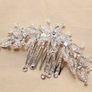 Art Deco Style Bridal Wedding Bride Rhinestone Crystal Silver Hair Comb