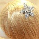 Vintage Style Big Floral Rhinestone Wedding Bridal Tiara Bride Hair Comb