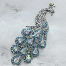Rhinestone Crystal Bridal Wedding Dress Peacock Wedding Hair Brooch Pin