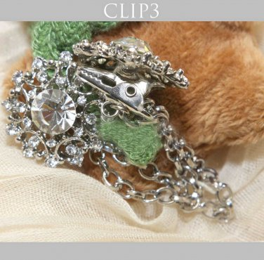 Rhinestone Crystal Bridal Wedding Dress Wedding Hair Brooch Sweater Guard Clip