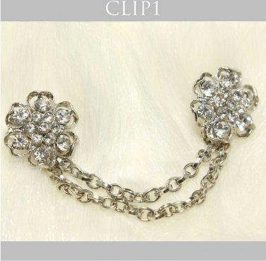 Rhinestone Crystal Bridal Wedding Dress Wedding Hair Brooch Sweater Guard Clip