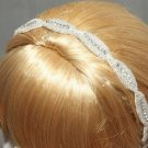 Bridal Wedding Applique Handmade Embroidery Rhinestone Crystals Headband