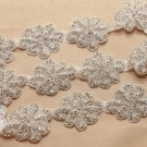 1 yard Rhinestone Crystal Dress Sash Iron/Sew on Applique Trim