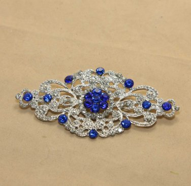Vintage Style Design Glass Crystal Rhinestone Wedding Bridal Dress Buckle Brooch Pin