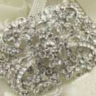 Vintage Style Glass Crystal Rhinestone Wedding Bridal Bride Sash Brooch Pin