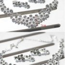 Engagement Anniversay Wedding Bridal Rhinestone Crystal Necklace Earrings Set
