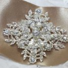 Vintage Style Crystal Rhinestone Wedding Bridal Bride Cross GoldBrooch Pin