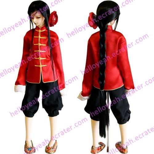 Hetalia Axis Powers China Wang Yao Cosplay Costume