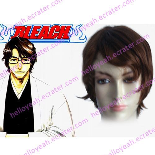 Bleach 5th Division Captain Aizen Sousuke Halloween Cosplay wig