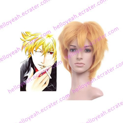 Gintama Kitar� Golden 35cm Anime Nylon Cosplay Wig