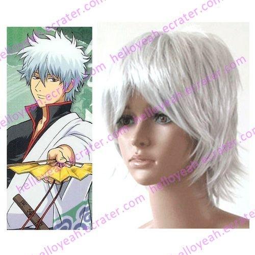 cosplay Sakata Gintoki wig from gintama