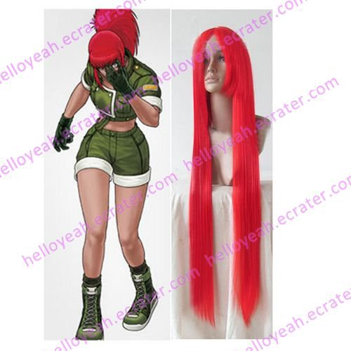King Of Fighters Leona Cosplay wig