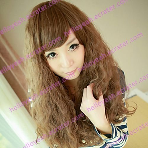 Brown Gal Gradient Color 70cm Punk Lolita Wave Wig