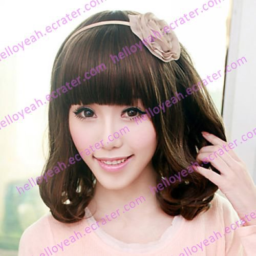 Brown Mixed Color 50cm Sweet Lolita Curly Wig