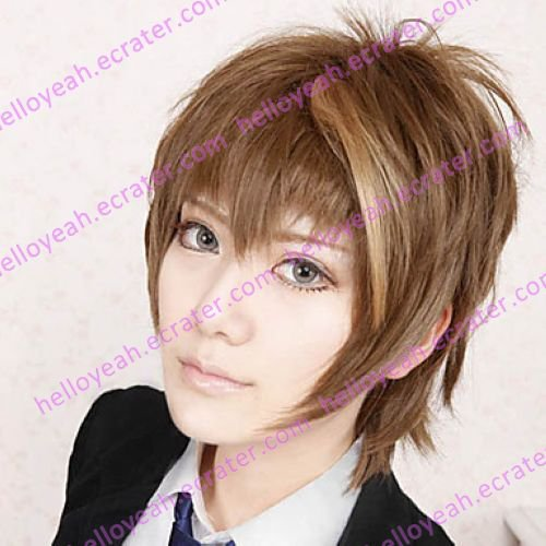Cosplay Wig Inspired by Guilty Crown-Ouma Shu Brown