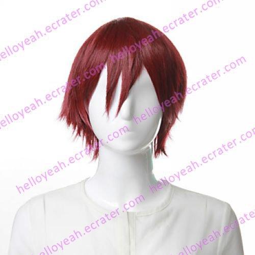 Cosplay Wig Inspired by Mawaru-Penguindrum-Kamba Takakura Wine Red