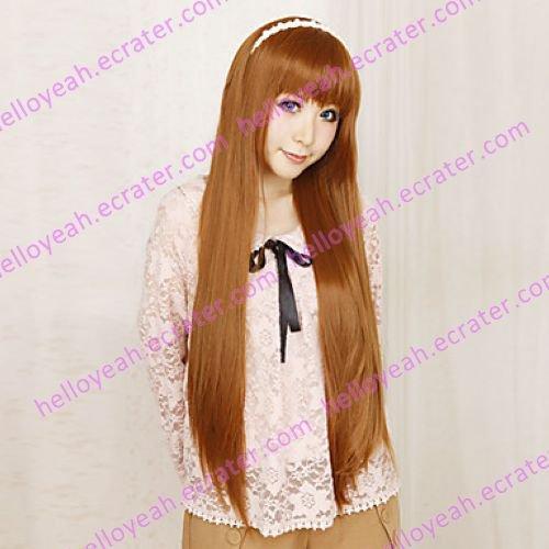 Cosplay Wig Inspired by Okami-san Ryoko Ookami Brown