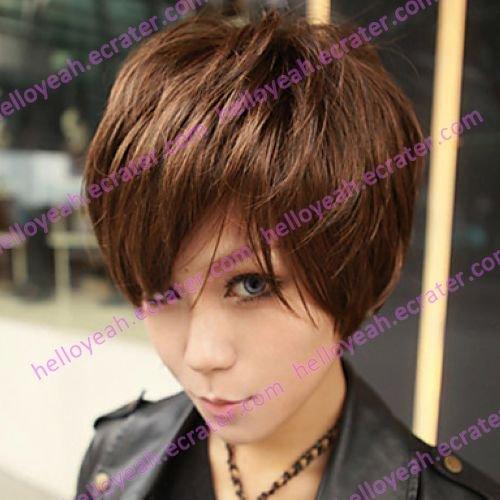 Fashion Zipper Brown 45cm Punk Lolita Wig