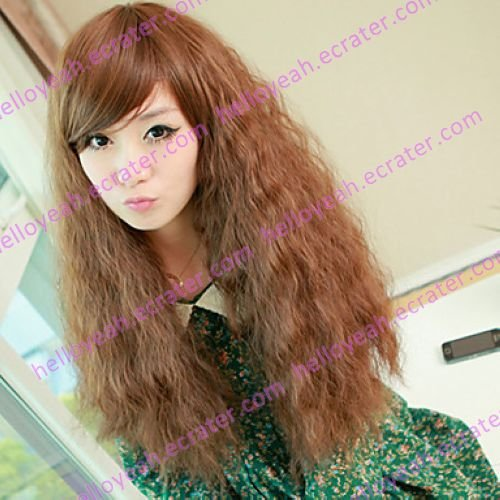 Fluffy Brown 70cm Punk Lolita Wave Wig