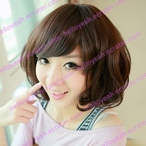 Fluffy Brown Gal Gradient Color 45cm Sweet Lolita Wig