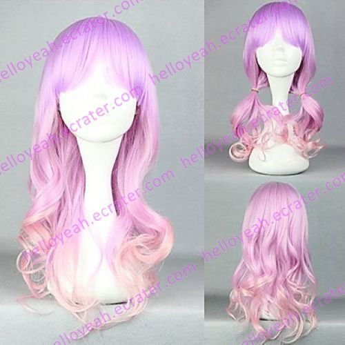 Lolita Wave Wig Inspired by Sweet Candy Purple Mixed Color Princess