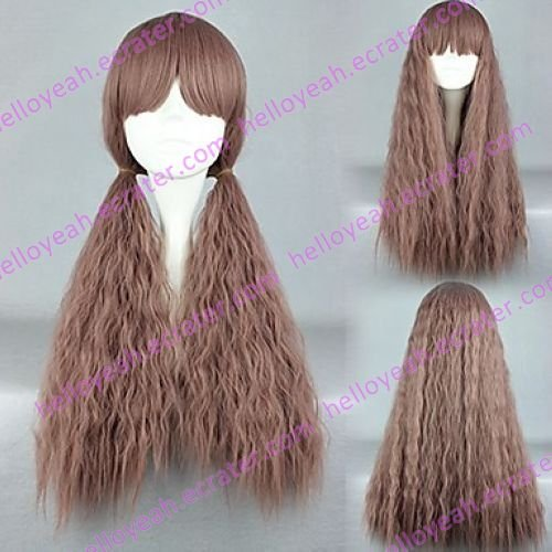 Lolita Wave Wig Inspired by Zipper Puffy Brown Mixed Color 70cm Sweet