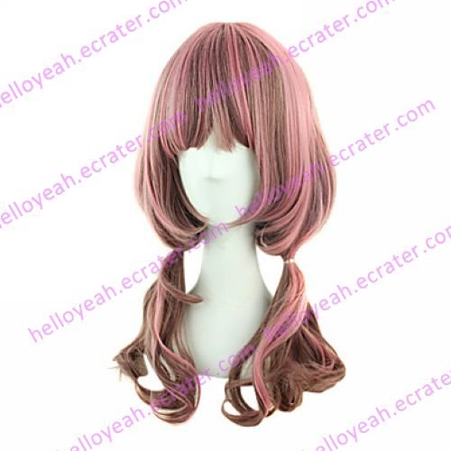 Lolita Wig Inspired by Amo Style Coffee and Pink Mixed Color 60cm Sweet Casual