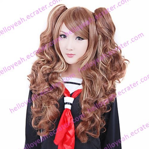 Lolita Wig Inspired by Brown Mixed Color Ponytail 70cm Casual Sweet