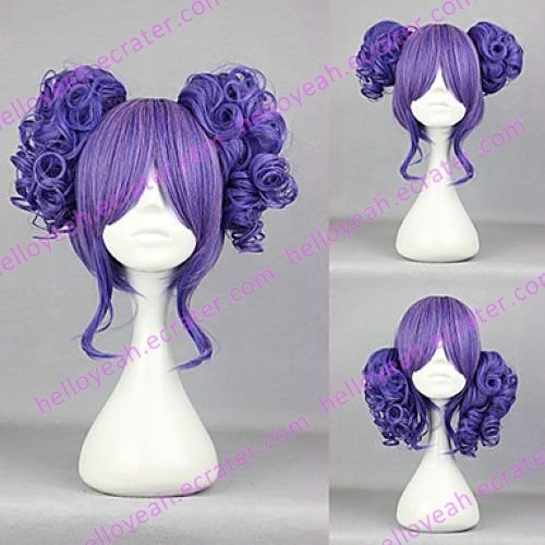 Lolita Wig Inspired by Cute Girl Blue and Pink Mixed Color 35cm Sweet