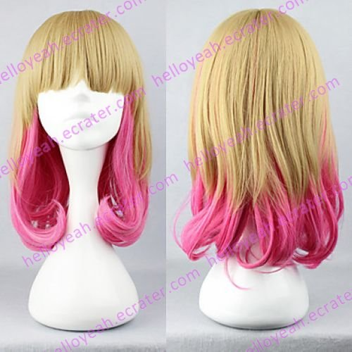 Lolita Wig Inspired by Flaxen and Pink Mixed Color 45cm Sweet