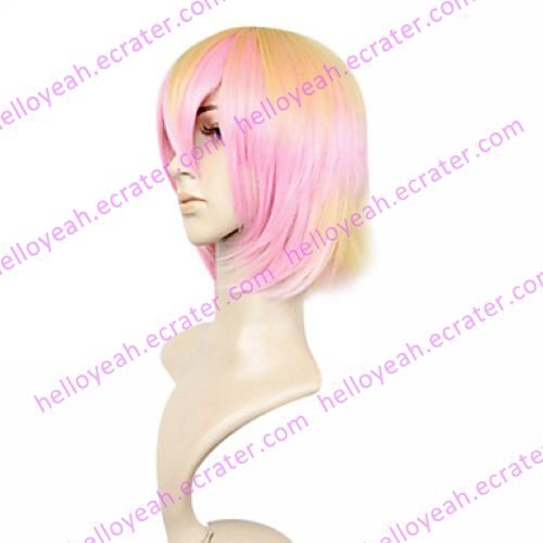 Lolita Wig Inspired by Pink and Yellow Mixed Color 35cm Sweet